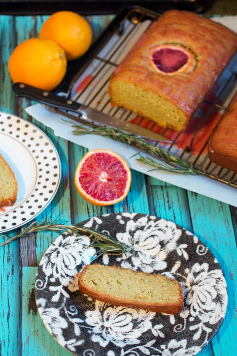 Blood Orange Rosemary Olive Oil Bread from The Girl In The Little Red Kitchen