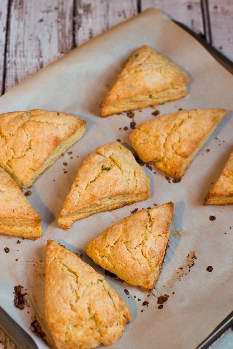 Grapefruit Thyme Scones | The Girl In The Little Red Kitchen