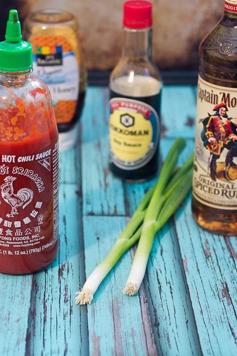 Honey Rum Sriracha Wings