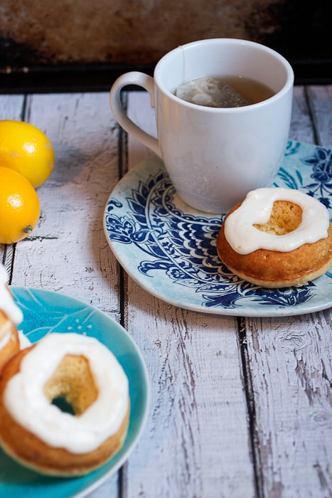 Meyer Lemon Donuts from The Girl In The Little Red Kitchen