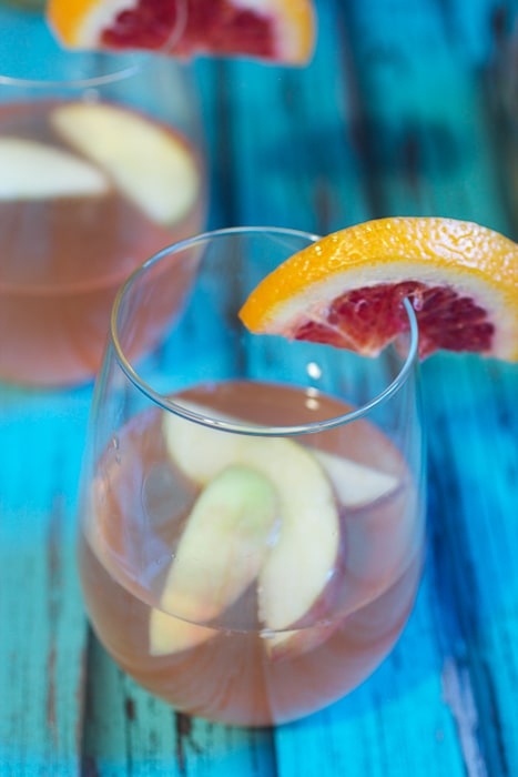 Winter Fruit White Wine Sangria from The Girl In The Little Red Kitchen