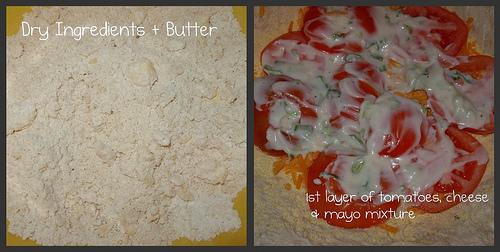 Building Tomato & Cheese Pie