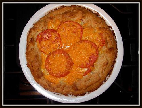 Tomato & Cheese Pie