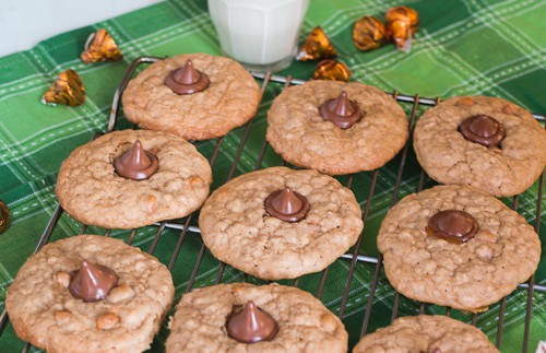 Butterscotch Oatmeal Caramel Kiss Cookies