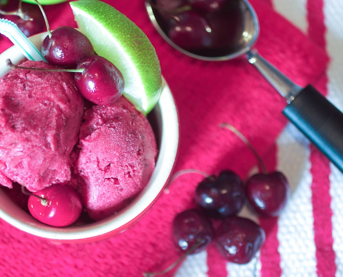 Cherry Lime Rickey Sorbet - 5