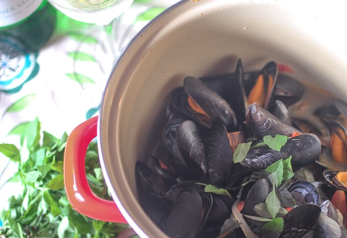 Moules a la Provencale from The Girl In The Little Red Kitchen