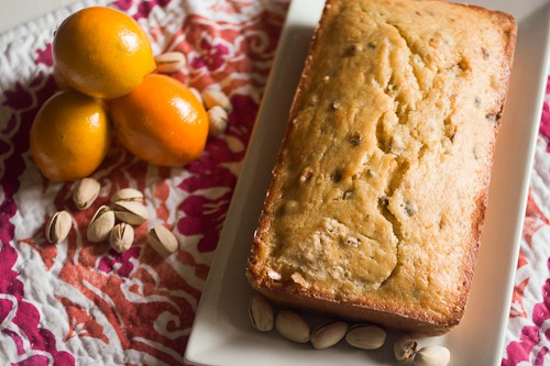 Meyer Lemon Pistachio Loaf #SundaySupper