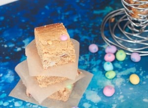Peanut Butter Bars with Peanut M&Ms