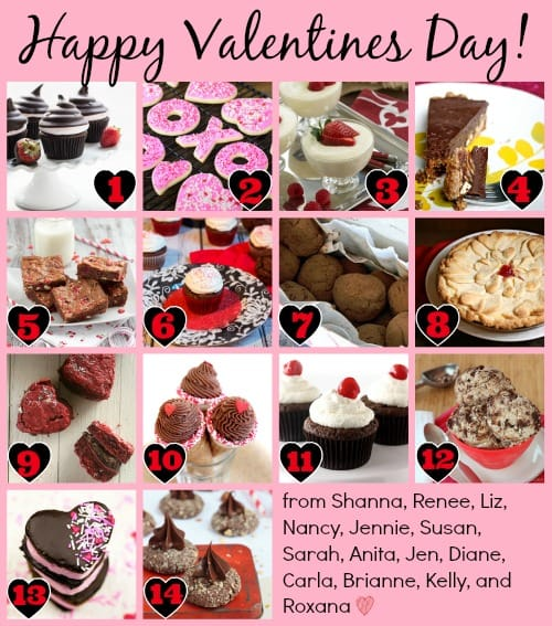 #HolidayFoodParty Valentine's Day Collage