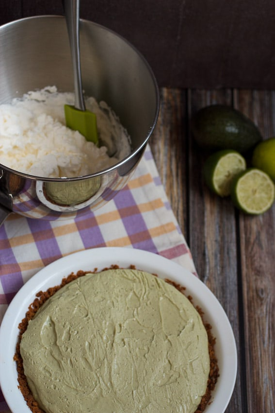 Avocado Cream Pie from The Girl In The Little Red Kitchen