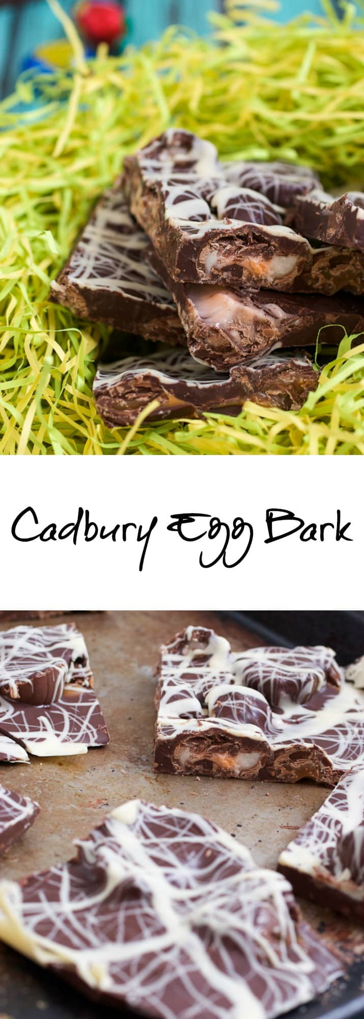 Cadbury Egg Bark