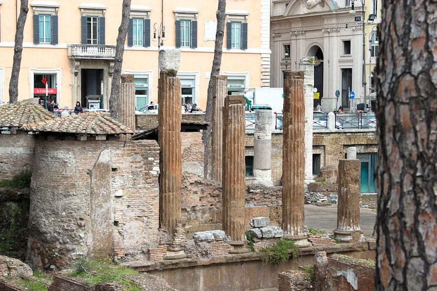 Eating out in Italy: Rome - Roman Ruins  from The Girl In The Little Red Kitchen