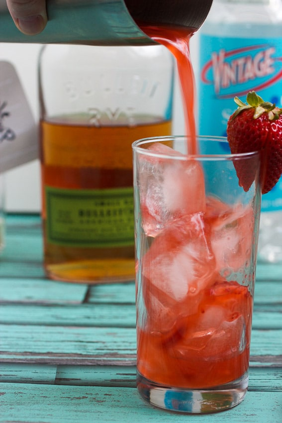 Strawberry Whiskey Sour from The Girl In The Little Red Kitchen