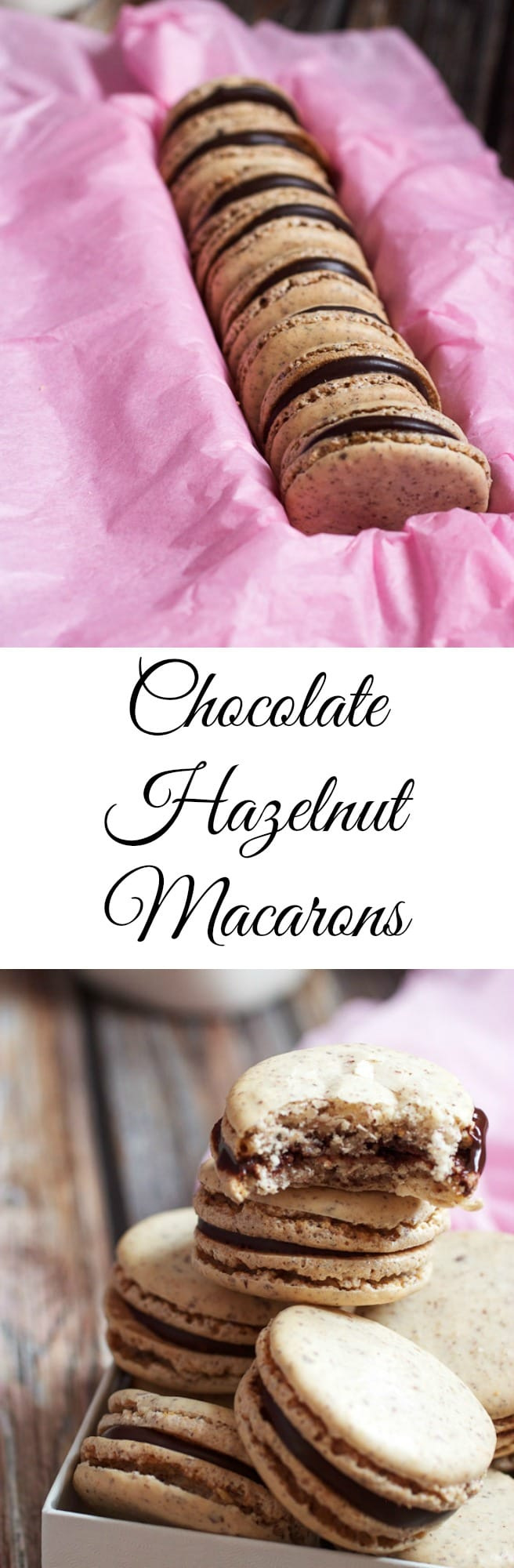 Chocolate Hazelnut Macarons | girlinthelittleredkitchen.com