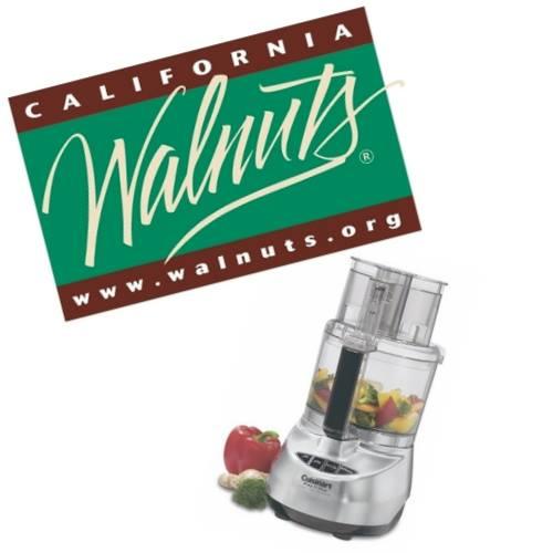 California Walnuts/Cuisinart giveaway
