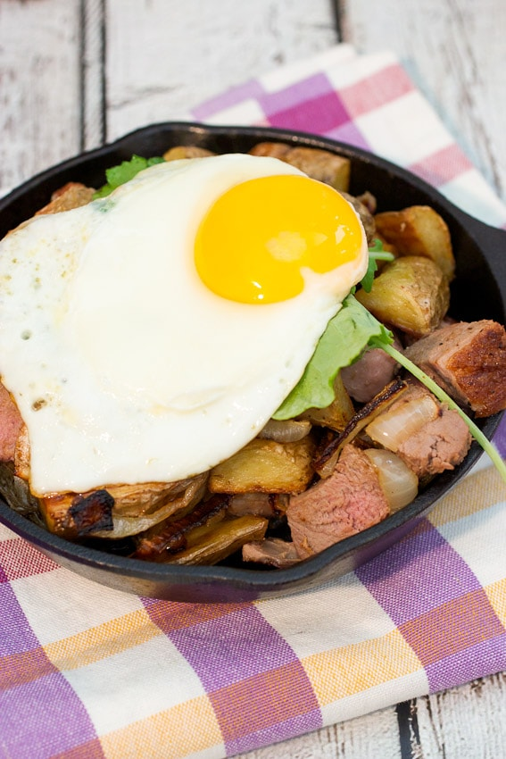 Duck Hash #brunchweek from The Girl In The Little Red Kitchen
