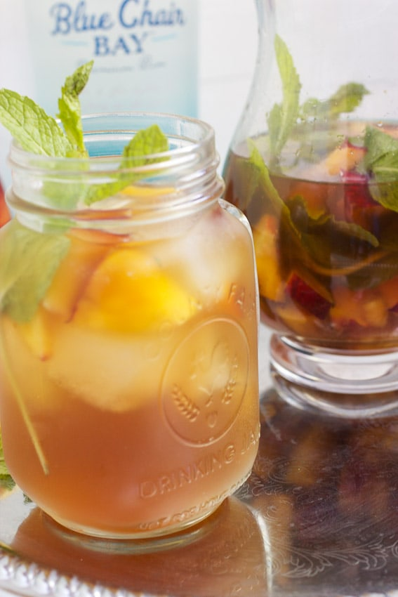 Spiked Peach Mint Ice Tea from The Girl In The Little Red Kitchen