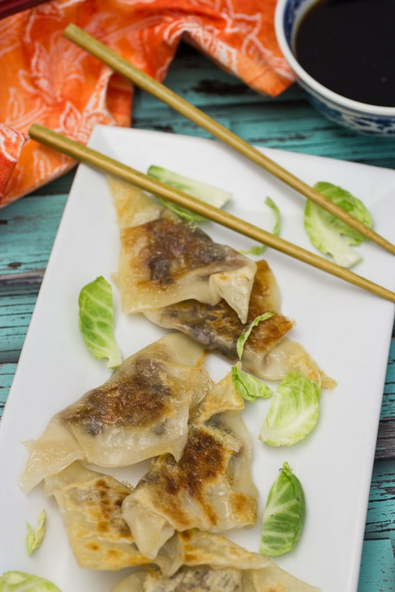 Brussels Sprouts and Bacon Dumplings from The Girl In The Little Red Kitchen