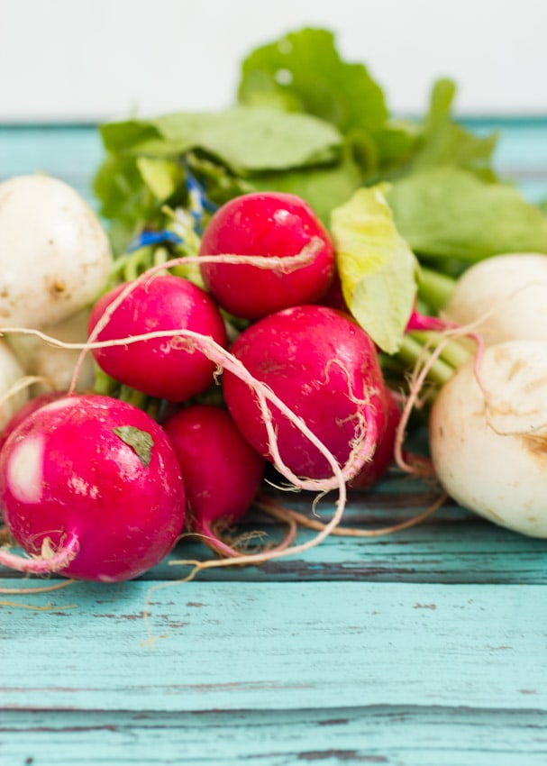 Radishes and Salad Turnips from The Girl In The Little Red Kitchen