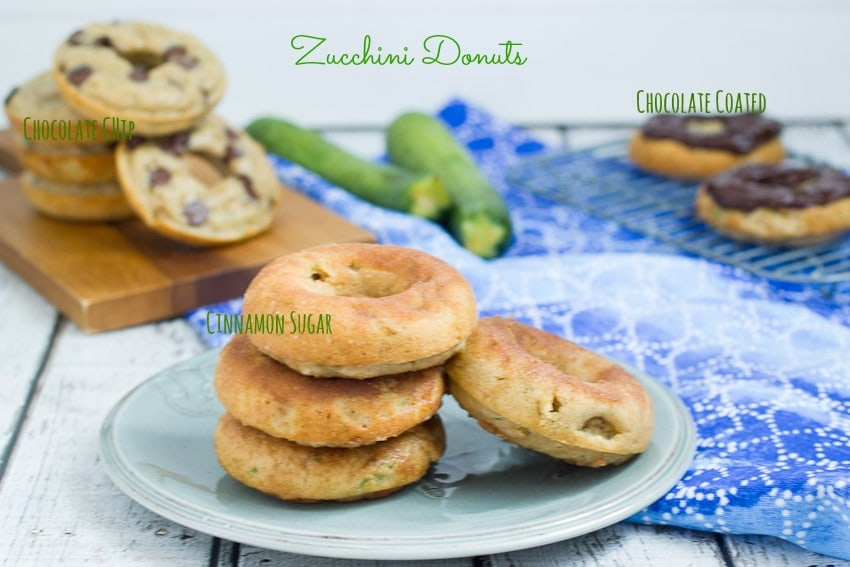 Zucchini Donuts from The Girl In The Little Red Kitchen