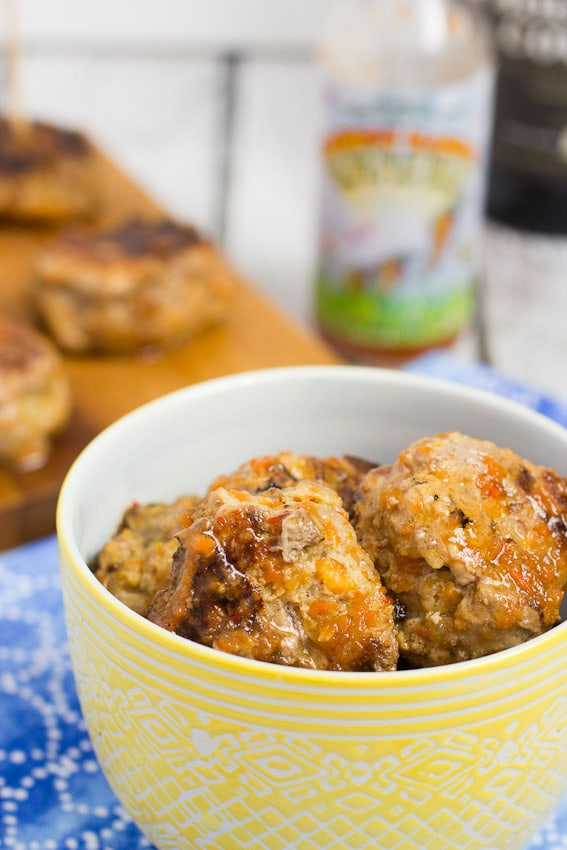 Carrot Habanero Duck Meatballs  from The Girl In the Little Red Kitchen