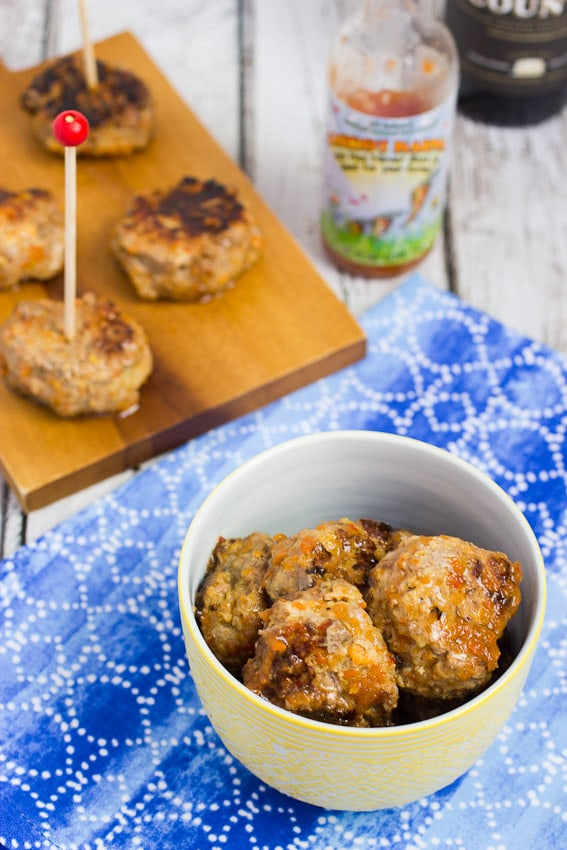 Carrot Habanero Duck Meatballs- The Girl In The Little Red KItchen