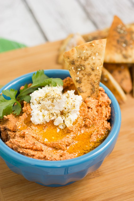 Sun-dried Tomato and Feta Dip from The Girl In The Little Red Kitchen
