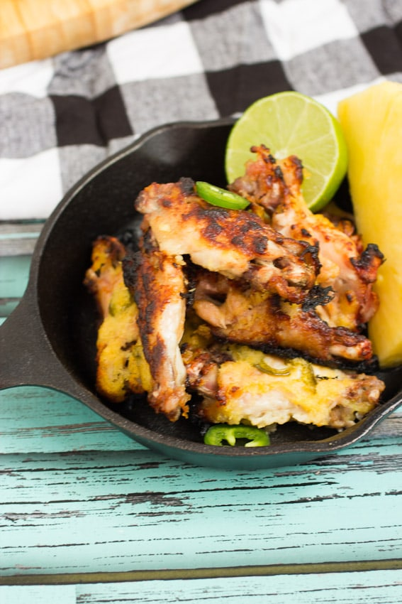 Pineapple Chile Lime Chicken Wings- The Girl In The Little Red KItchen