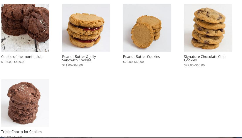 Bake Shop Main Page