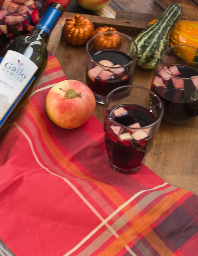 Poison Apple Pomegranate Sangria from The Girl In The Little Red Kitchen