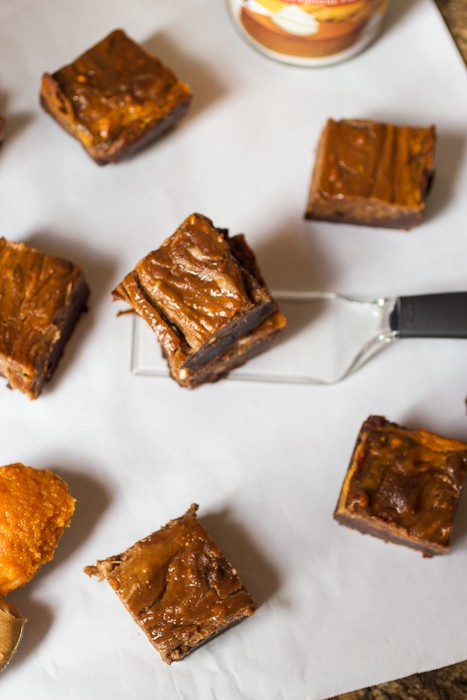 Pumpkin Biscoff Brownie