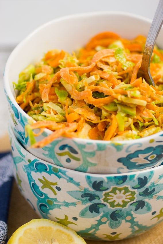 Sweet Potato and Brussels Sprouts Salad | The Girl In The Little Red Kitchen