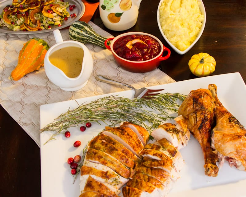 Cranberry Dijon Glazed Turkey - The Girl In The Little Red Kitchen