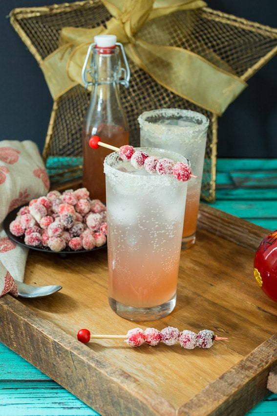Cranberry Moscow Mule #HolidayFoodParty from The Girl In The Little Red Kitchen