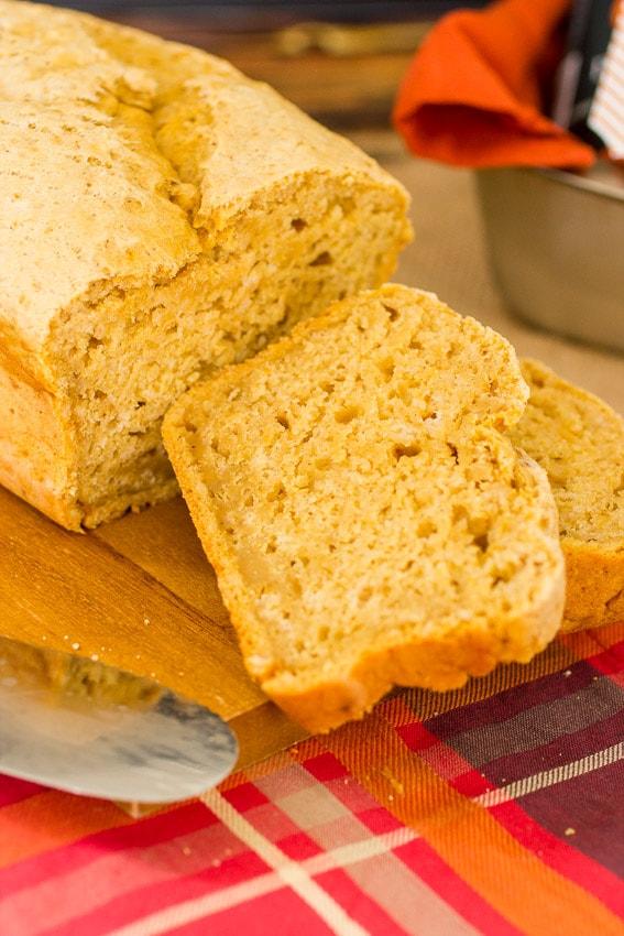 Pumpkin  Beer Bread | girlinthelittleredkitchen.com