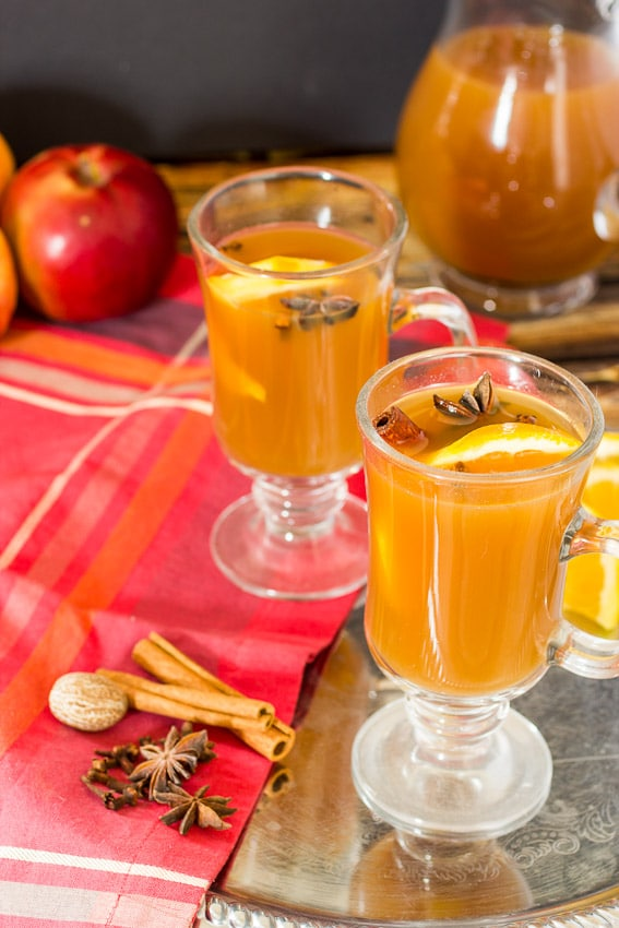 Spiked Mulled Apple Cider from The Girl In The Little Red Kitchen