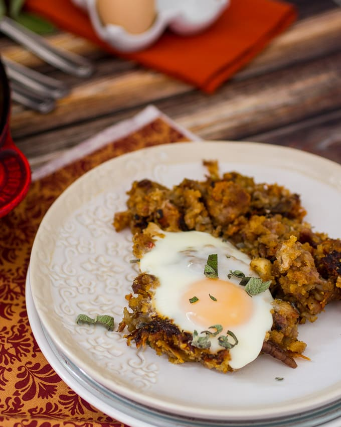 Stuffing Hash- girlinthelittleredkitchen.com