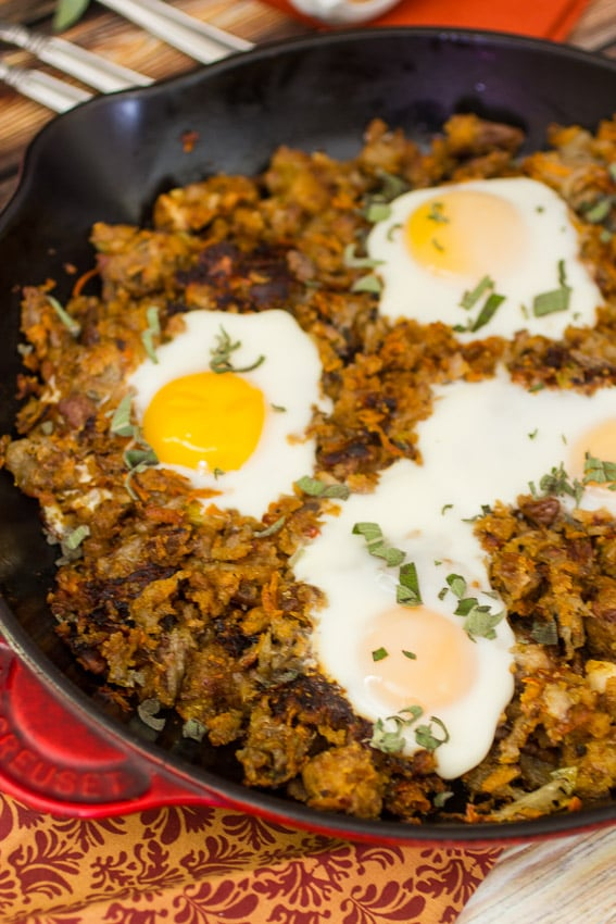 Stuffing Hash | girlinthelittleredkitchen.com