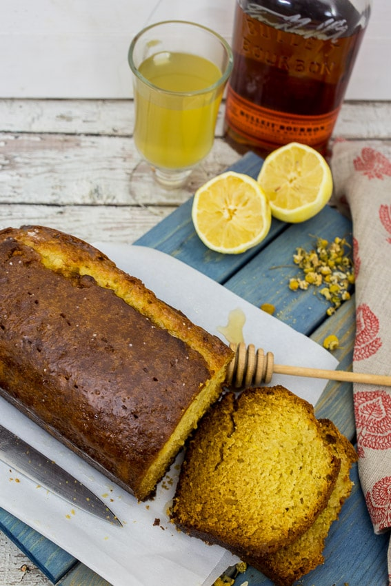 Honey Chamomile Hot Toddy Tea Cake #SundaySupper from The Girl In The Little Red Kitchen