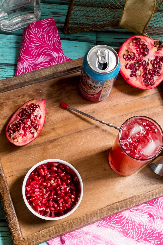 Pomegranate Gin Fizz- The Girl In The Little Red Kitchen
