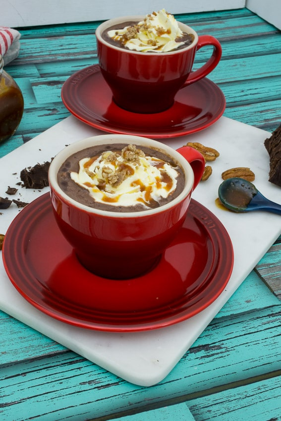 Turtle Hot Chocolate #ChristmasWeek from The Girl In the Little Red Kitchen