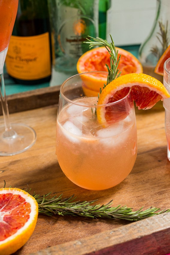 Blood Orange Rosemary Spritzer | The Girl In The Little Red Kitchen