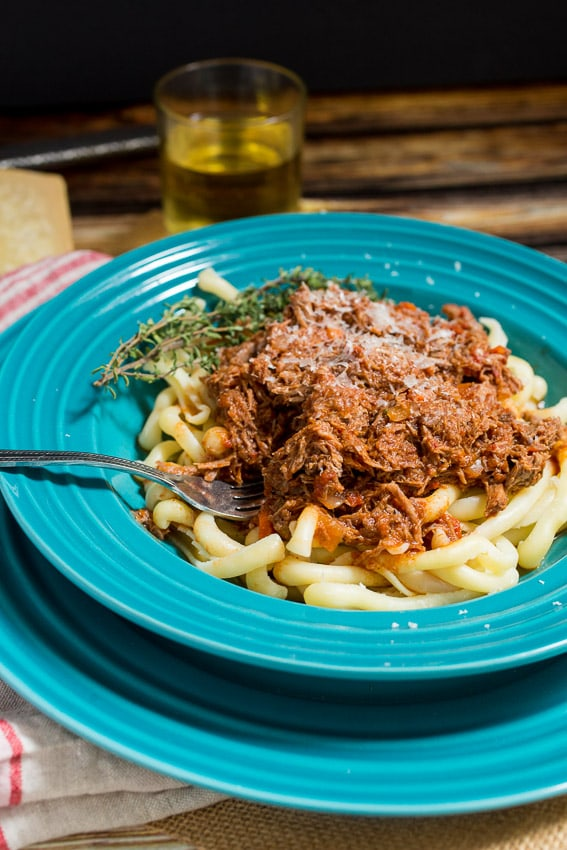 Braised Lamb Ragu | girlinthelittleredkitchen.com