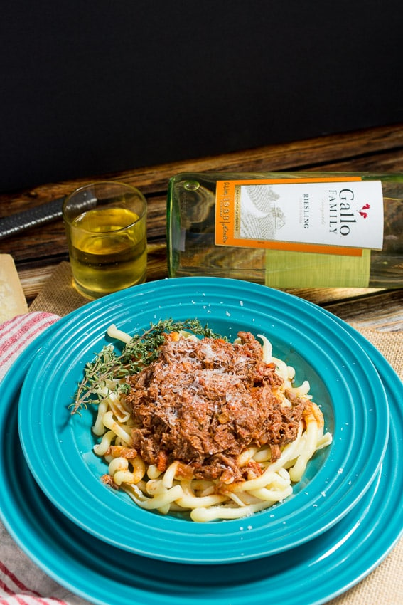 Braised Lamb Ragu #SundaySupper | girlinthelittleredkitchen.com