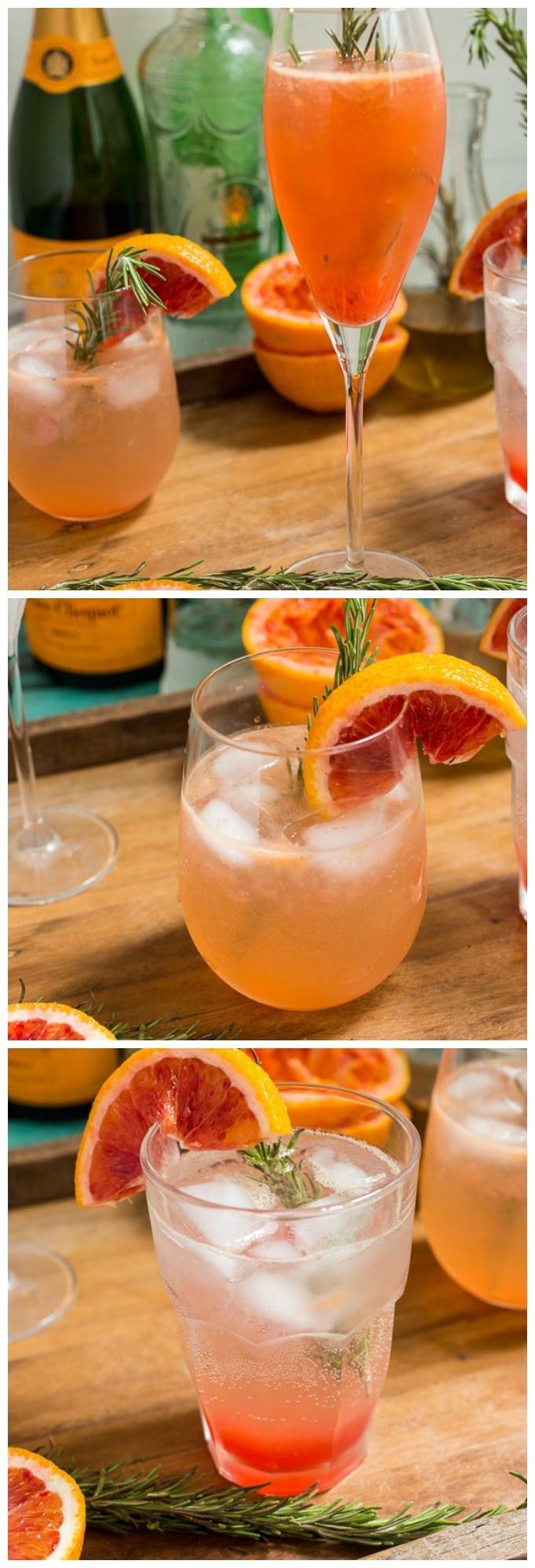 Blood Orange Rosemary Spritzer | girlinthelittleredkitchen.com