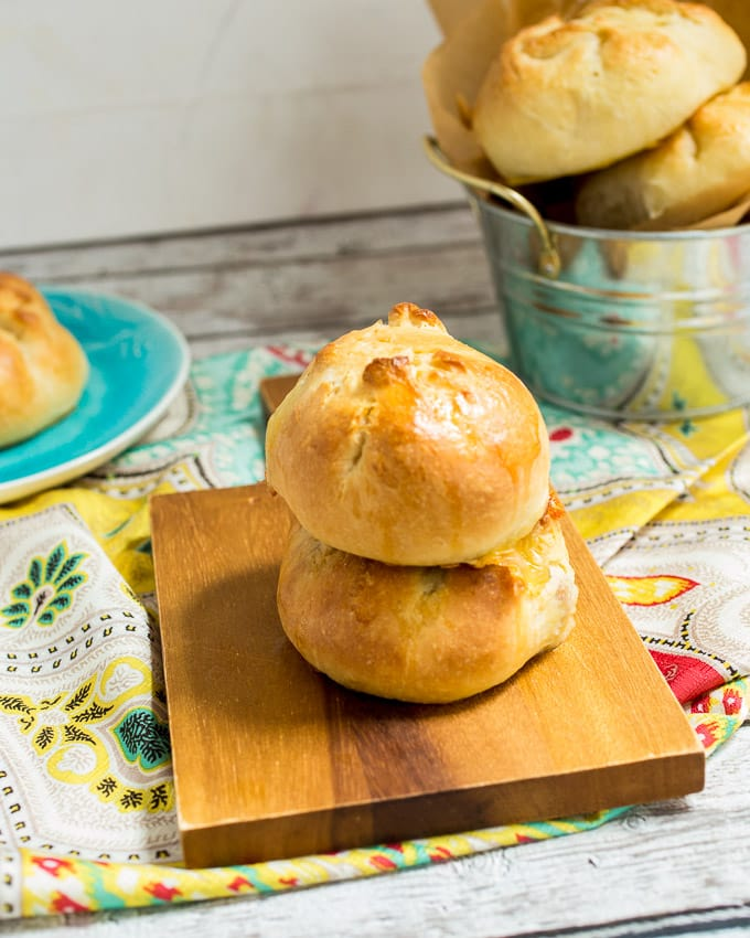 Sausage and Brie Kolache | girlinthelittleredkitchen.com