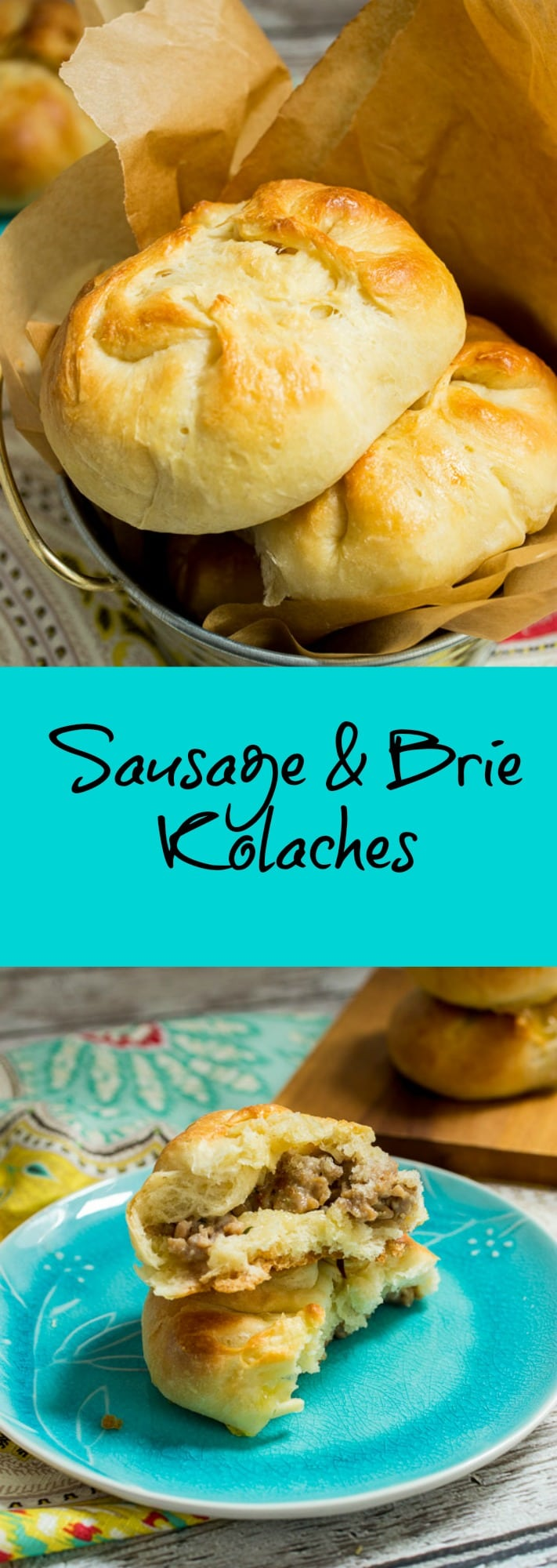Sausage and Brie Kolaches | girlinthelittleredkitchen.com