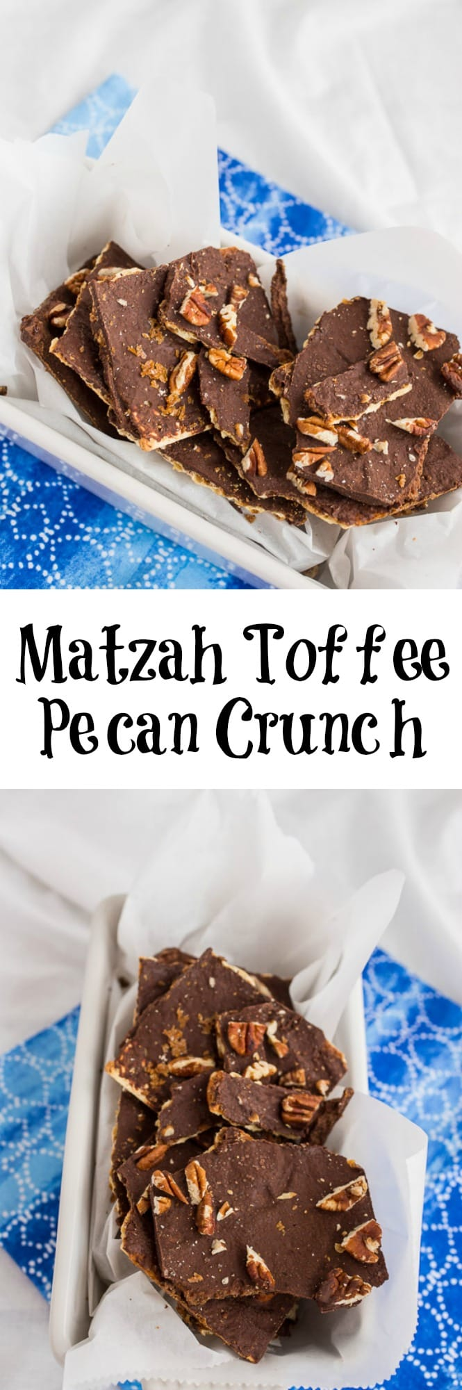 Matzah Toffee Pecan Crunch | girlinthelittleredkitchen.com