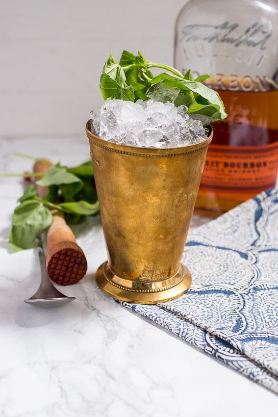 Basil Julep from The Girl In The Little Red Kitchen