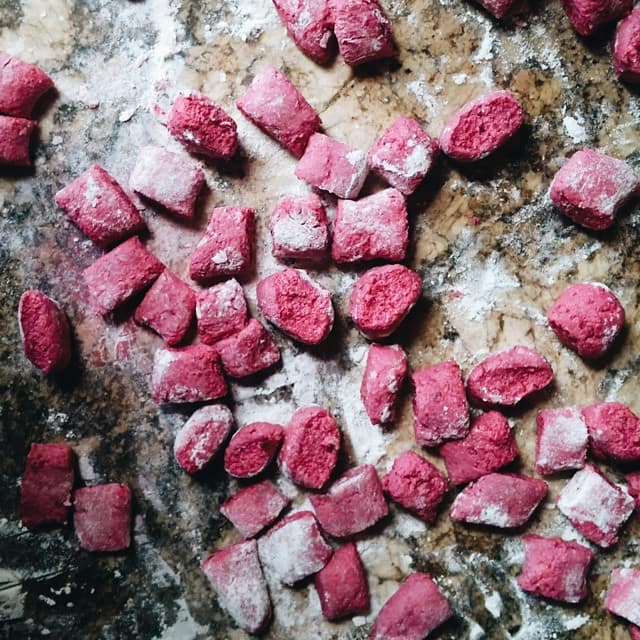 Beet Gnocchi Dough | girlinthelittleredkitchen.com